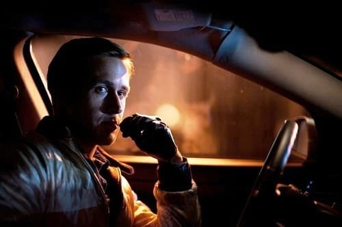 Ryan Gosling drives in Drive