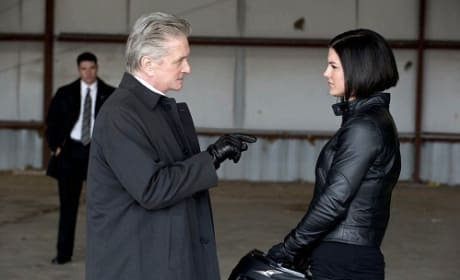 Michael Douglas and Gina Carano in Haywire
