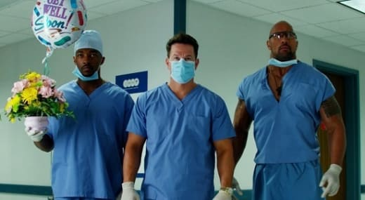 Anthony Mackie, Dwayne Johnson & Mark Wahlberg Pain and Gain