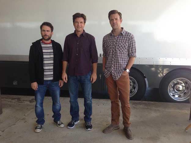 Jason Bateman Jason Sudeikis Charlie Day Horrible Bosses 2 Set