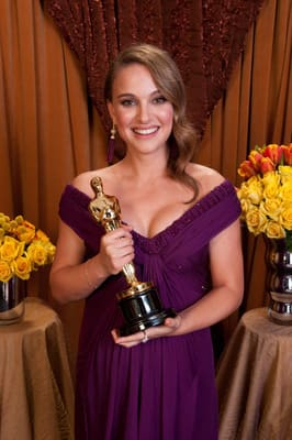 Natalie Portman Backstage at the Oscars