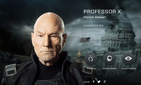X-Men Days of Future Past Professor X Bio Banner