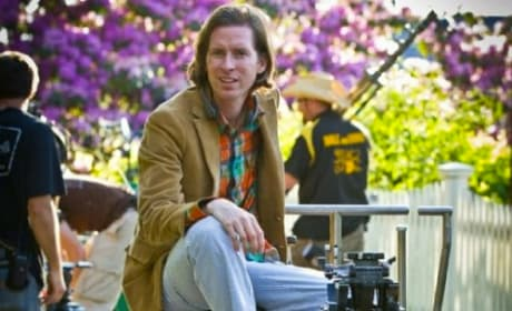 Wes Anderson on the Moonrise Kingdom Set