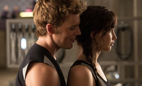 Finnick Odair and Katniss Everdeen