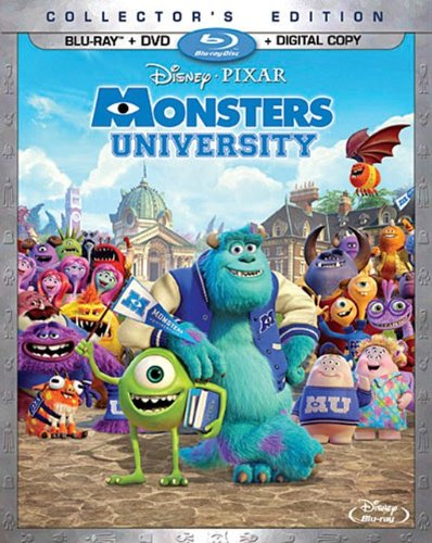Monsters university dvd slash blu ray combo pack